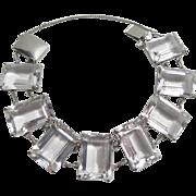 Gorgeous Rock Crystal Sterling Bracelet