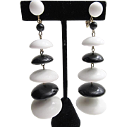 Fab Black & White Disc Earrings