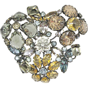 Huge Dimensional Schreiner Brooch
