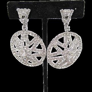 Kramer Dangling Rhinestone Earrings