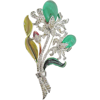 Fabulous Huge DuJay Brooch