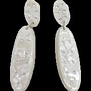 Wonderful Designer Quality Lucite Earrings