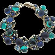 Blue Green Cabochon Bracelet