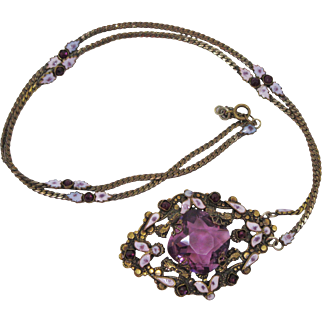 Czechoslovakian Enameled Necklace