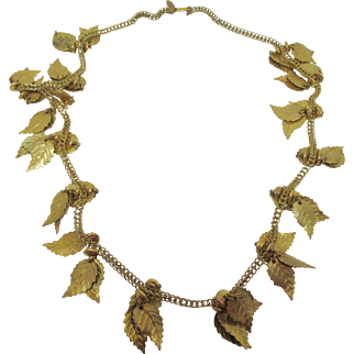 Miriam Haskell Leaf Necklace