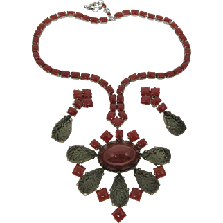 Fabulous Schreiner Necklace/Brooch/Pendant/Earring Set