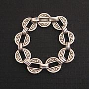 Modernist James Avery Heavy Sterling Link Bracelet 22g