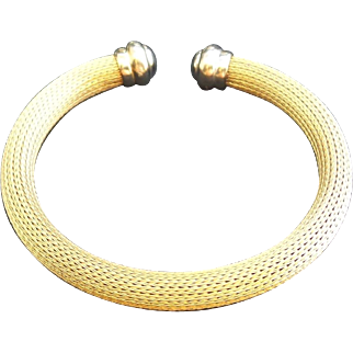 Vintage 14k Gold German Flex Cable Bracelet