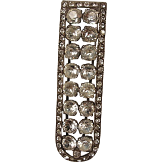 Sterling Antique Vintage Paste Clip Pin