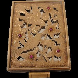 18K Retro Silver  Ruby Boucheron France Compact Case