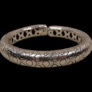 Sterling Vintage John Hardy Nega Bracelet Cuff