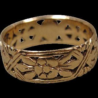 Vintage 14K Band Ring Wedding Stackable