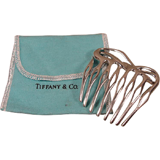 Vintage Sterling Silver Tiffany Co Angela Cummings Hair Comb
