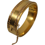 Victorian Gold-Filled Bangle Bracelet