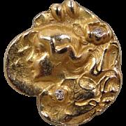 14k Art Nouveau Style maiden Diamond Ring
