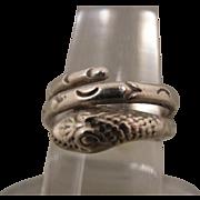 Vintage Sterling Snake Ring