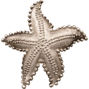 Vintage Sterling Tiffany & Co Starfish Pin Brooch