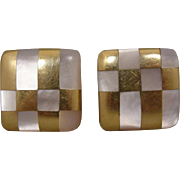 Angela Cummings Tiffany Co MOP 18k Earrings