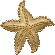 18k Vintage Tiffany & Company Starfish Pin Brooch