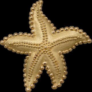 18k Vintage Tiffany & Company Starfish Pin Brooch