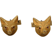 14K Fox Head Cufflinks Vintage
