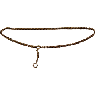 14k Victorian Book  Chain Elaborate Link Necklace