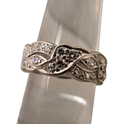 Platinum Art Deco Diamond Band Ring