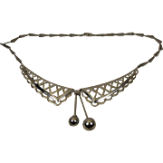 Art Deco Chrome Collar Necklace