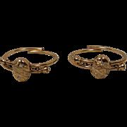 Victorian Pair Gold-Filled Antique Bangle Bracelets