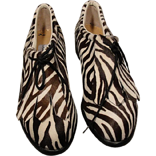 Walter Genuin Zebra Golf Shoes Best Size 9 Italy