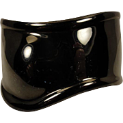 Elsa Peretti Tiffany Co Black Ruthenium Right Wrist Cuff Bracelet