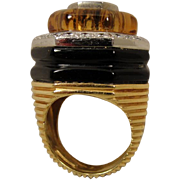 18k Diamond Citrine WINC Robert Wander Ring