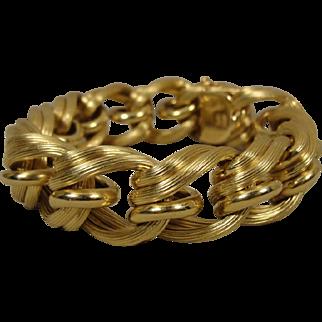 18K Industria Argentina Gold Link Bracelet 81 Grams