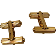 18K French Tube Cufflinks Vintage