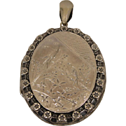 Sterling Silver Victorian Locket Pendant
