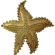 Large Tiffany & Co Vintage 18K Starfish Pin Brooch