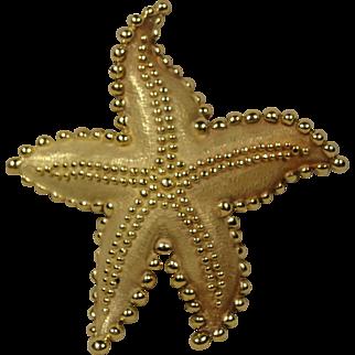 Large Tiffany & Co Vintage 18K Starfish Pin Brooch
