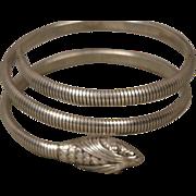 Art Deco Sterling Forstner Snake Coil Bracelet