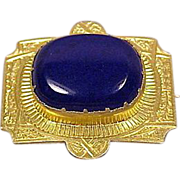 M & Co 18K Victorian Large Lapis Lazuli Pin