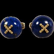 18K Estate Lapis Lazuli Cufflinks