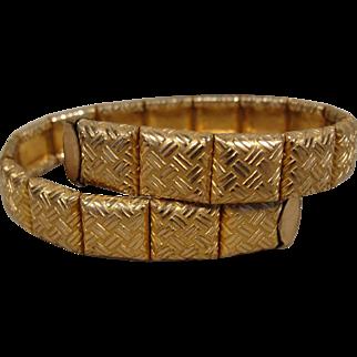 Victorian Gold-Filled Wrap Around Bracelet