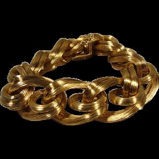 18k Tiffany & Company Link Bracelet Vintage Chunky
