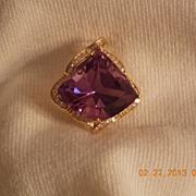Amethyst & Diamond Pendant,