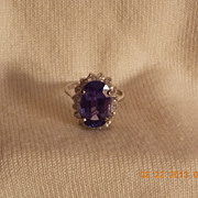 Tanzanite & Diamond Ring,