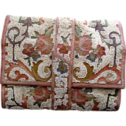Evening bag, Beaded, Tambour embroidery, French, Pastels, 40s - Red Tag Sale Item