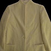 On Sale:Creamy White Wool boucle Blazer: Sports Galore: size 10