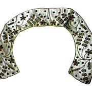 """on Sale:  Peter Pan collar, from India, metal and and beaded embroidery, 15"""""""