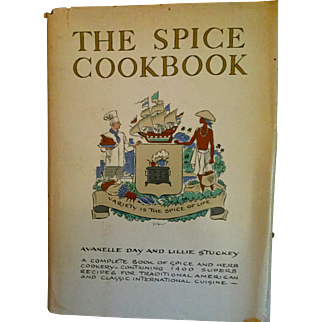 On Sale: The Spice Cookbook: vintage: first edition:1964:  A Complete Book of Spice and Herb cookery