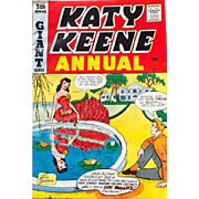 SALE Vintage Comic Katy Keene Annual #5: 1958-1959: very fine condition: Bill Woggon: Archie ...