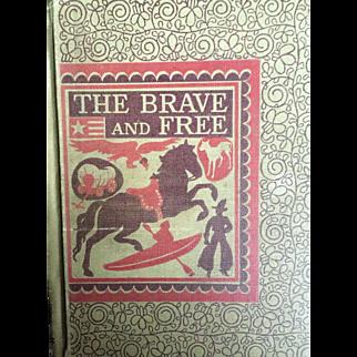 Vintage school book:  The Brave and Free: Reading Textbook: D.C.Heath & Co: 1942: Barbara Nolan